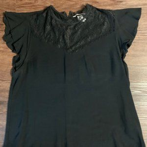 H&M Lace and Flutter Sleeve Blouse